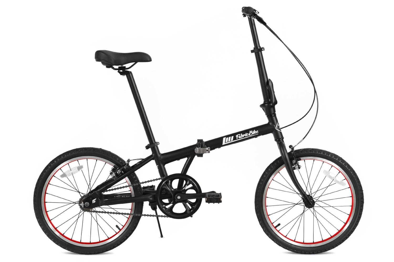 Folding Bike Black & Red FabricBike