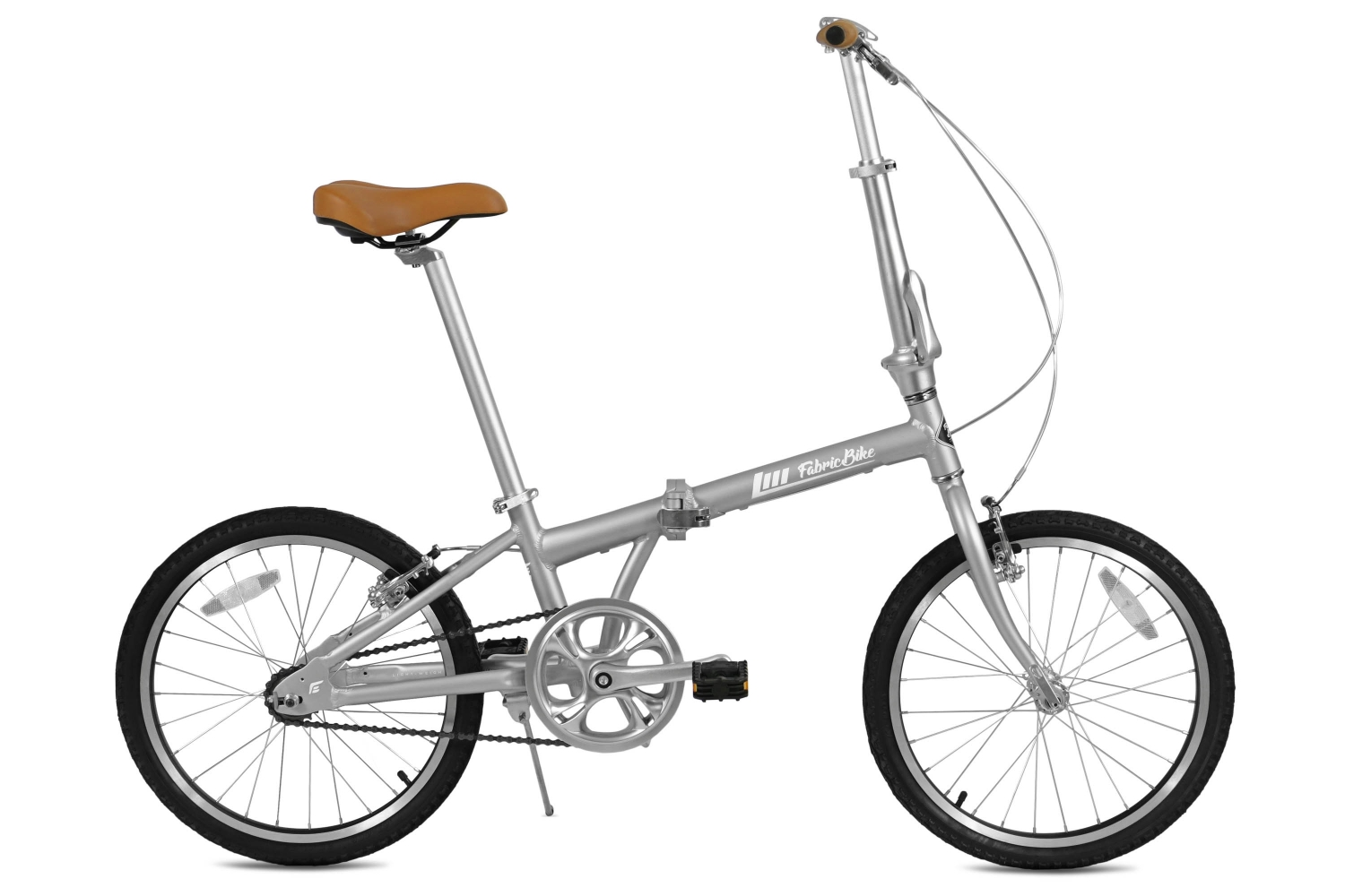 Folding Bike Grey & Black FabricBike