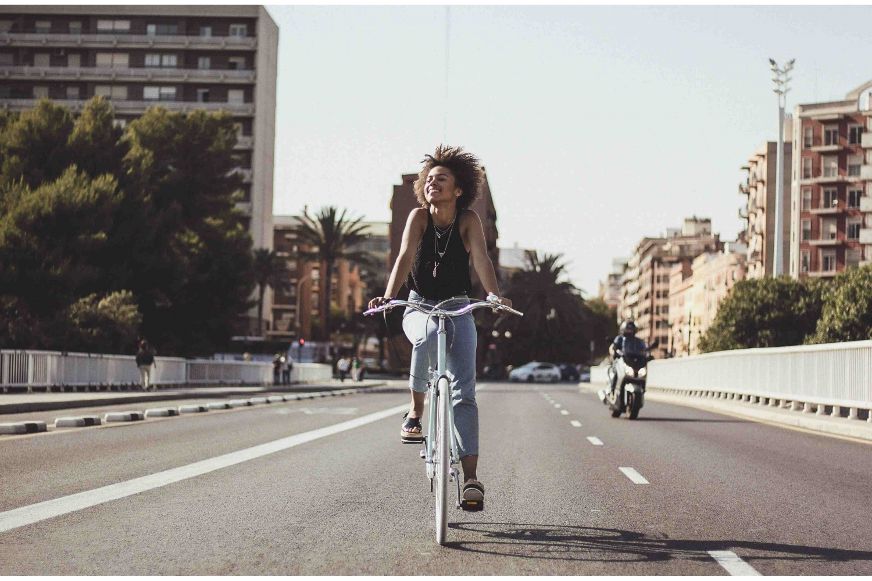 Bicicleta Paseo Mujer 3V Azul
