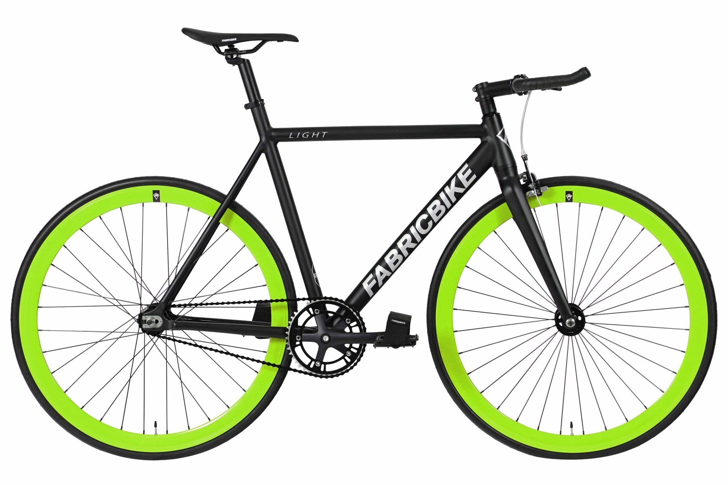 Bici Fixie Fabricbike Light Black & Green