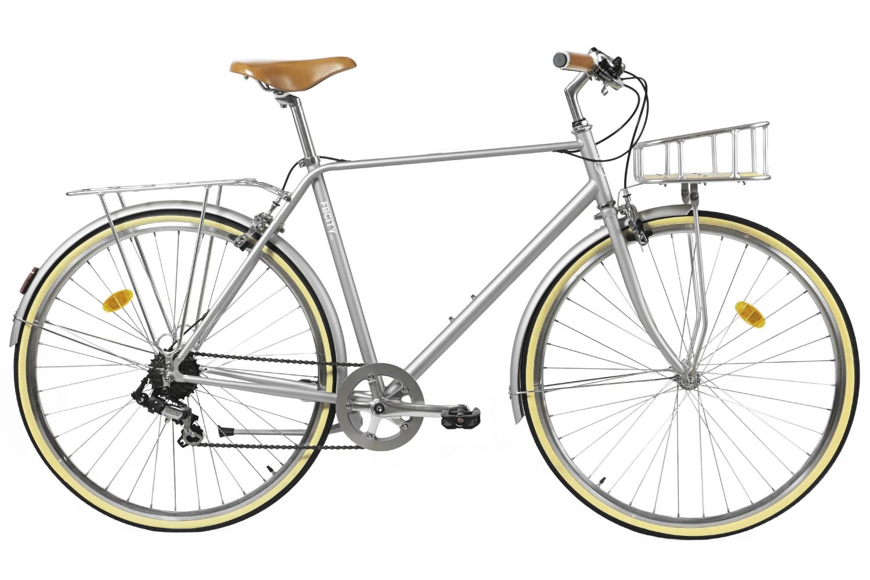 Bicicleta Paseo Gris metalizado Clasica Hombre