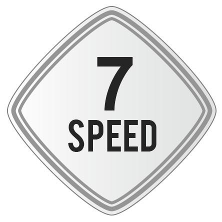 Folding Matte White 7 Speed