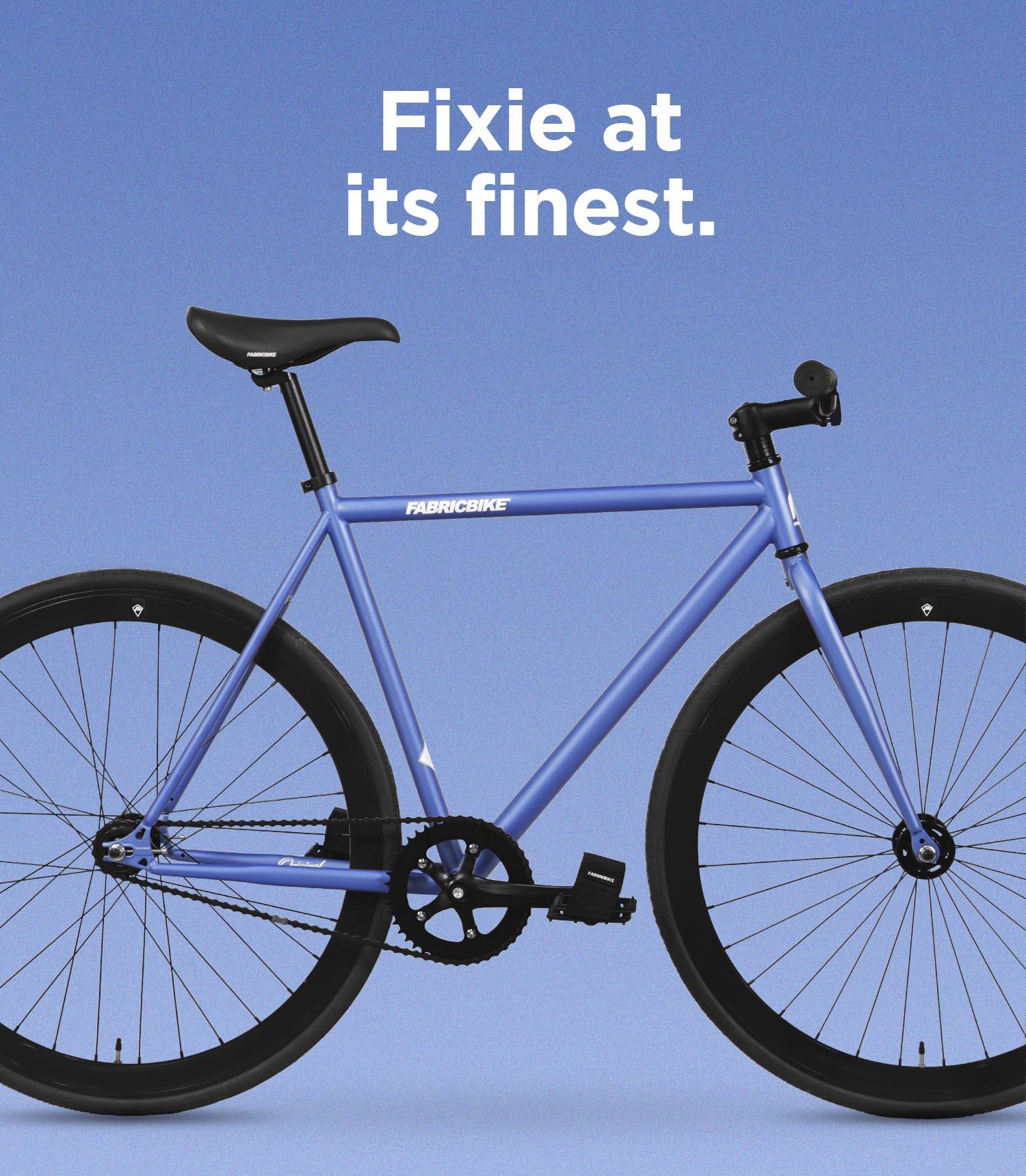 Fixed gear bike blue