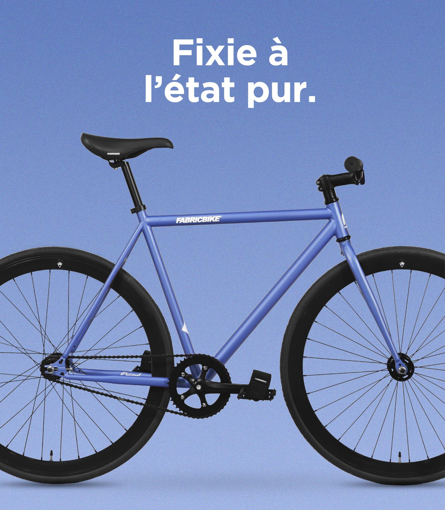 Fixed gear bike blue